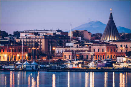 Gallery print  Syracuse skyline in front of Mount Etna (Sicily, Italy) - Alexander Voss