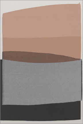 Premium poster Beige and gray