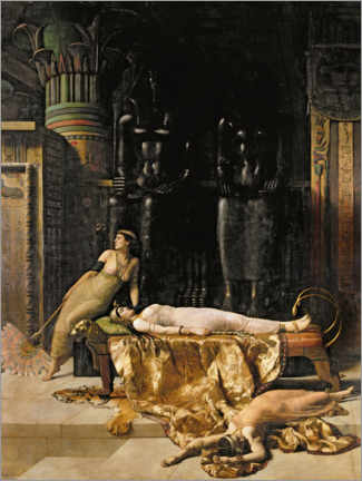 Premium poster  Death of Cleopatra - John Collier
