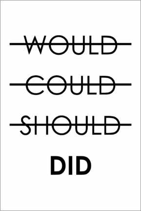 Premium poster  Would, could, should, do (English) - Typobox