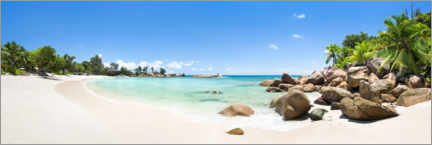 Premium poster Dream beach in the Seychelles