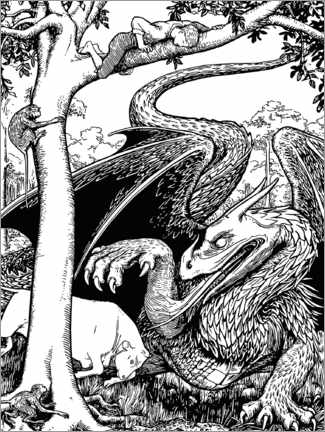 Colouring poster  The Dragon