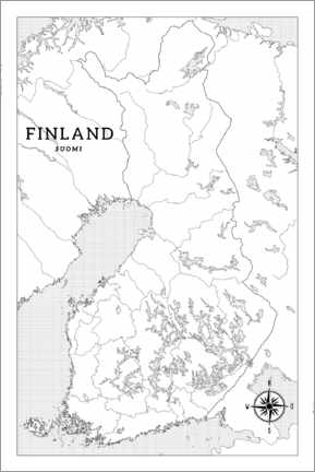 Colouring poster  Finland