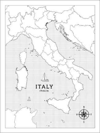 Colouring poster Italy