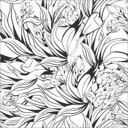 Colouring poster Wild flowers