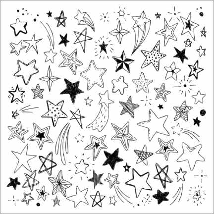 Colouring poster All of my stars
