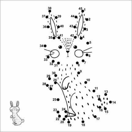 Colouring poster Little bunny