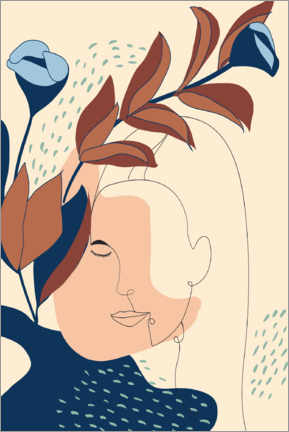Premium poster  Portrait of a woman in beige - Dani Jay Designs