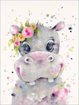 Gallery print  Little Miss Hippo - Sillier Than Sally