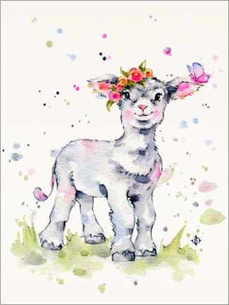 Canvas print  Sweet Lamb - Sillier Than Sally
