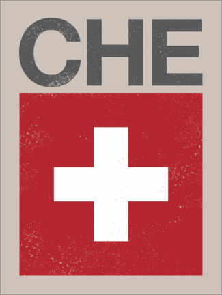 Canvas print  Switzerland retro flag - Swissty