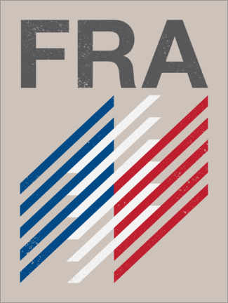 Gallery print  France retro flag - Swissty