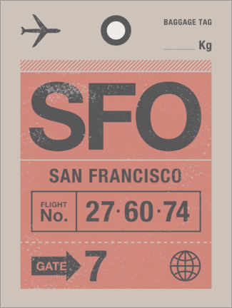 Canvas print  San Francisco travel tag - Swissty
