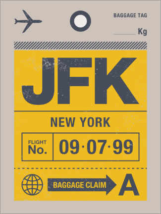 Foam board print  New York travel tag - Swissty