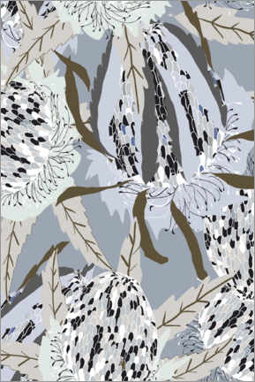 Canvas print  Native florals - Dani Jay Designs
