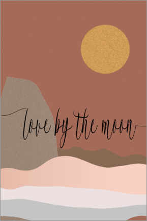 Gallery print  Love by the moon - Dani Jay Designs