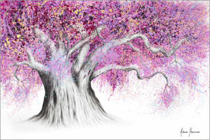 Premium poster Pink Party Tree