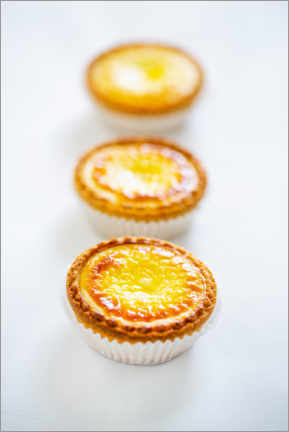 Foam board print  Small tartes with cream cheese and egg cream - foodcollection