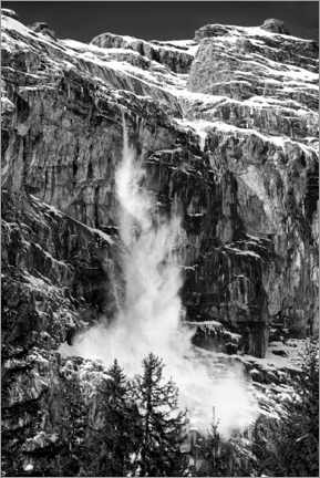 Premium poster  France, Alps, avalanche - Henry Ausloos