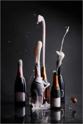 Acrylic print  Opened champagne bottles - The Picture Pantry