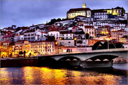 Aluminium print  Coimbra with old Mondego river bridge - Danita Delimont RF