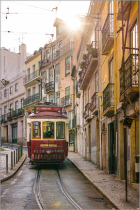 Canvas print  Tram in Lisbon - Novarc Images