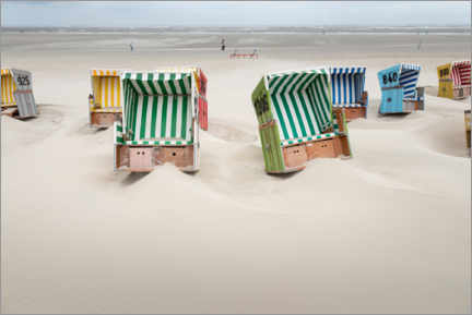 Canvas print  Beach chairs on Langeoog after a storm - Roland T. Frank
