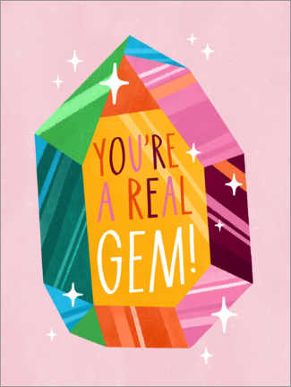 Wall sticker  You're a real gem! - Katie Melrose