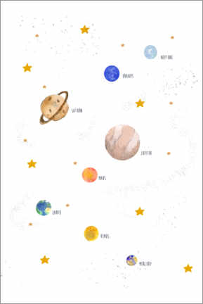 Gallery print  Our solar system - Paola Zakimi