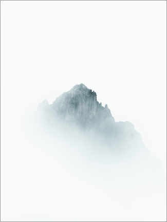 Aluminium print  Mountain peak in the fog - Lukas Saalfrank
