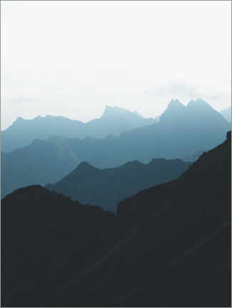Acrylic print  Blue mountain peaks in the Alps - Lukas Saalfrank