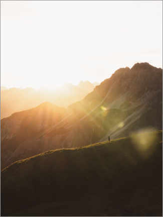 Gallery print  Sunrise in the Allgäu Alps - Lukas Saalfrank