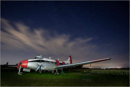 Premium poster  Aeroplane Night Photograph - Paul Heasman