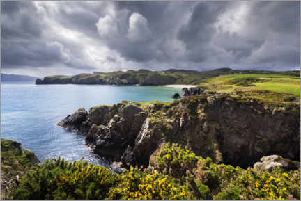 Premium poster  Threatening clouds over the coast and bays of Ireland - The Wandering Soul