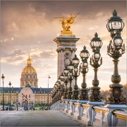 Premium poster Paris, Pont Alexandre and Invalides