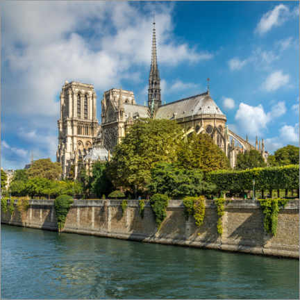 Premium poster Paris, Notre Dame Cathedral on the Seine