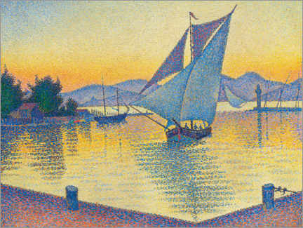 Canvas print  Harbor in the sunset - Paul Signac