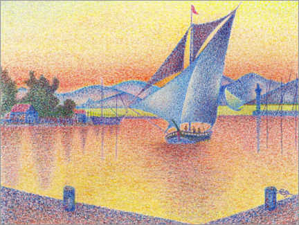 Gallery print  Harbor in the sunset (study) - Paul Signac