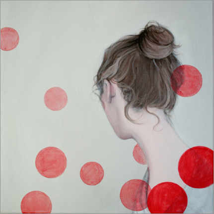 Premium poster Red dots