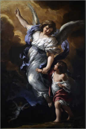 Acrylic print  The Guardian angel - Pietro da Cortona