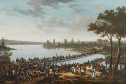 Canvas print  The Passage of the Danube by Napoleon before the Battle of Wagram - Jacques Francois Joseph Swebach