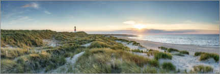 Premium poster  Sunset on the North Sea beach on Sylt - Jan Christopher Becke