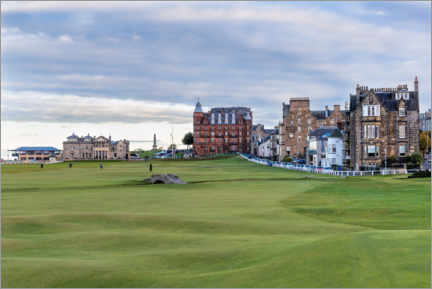 Premium poster  Hole 18 at St. Andrews Old Course, Scotland - Mike Centioli
