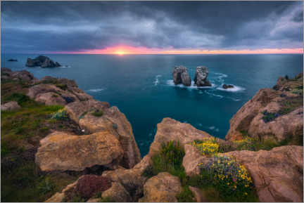 Premium poster  Urro del Manzano on the Costa Quebrada, Spain - Dirk Wiemer
