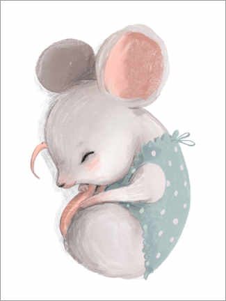 Acrylic print  Little Mouse Taking a Nap - Kidz Collection