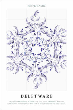 Foam board print  Delftware - Art Couture
