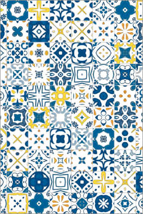 Premium poster  Decorative azulejo pattern