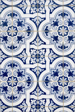 Premium poster  Delft blue decor