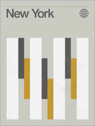 Wood print  New York - Swissty
