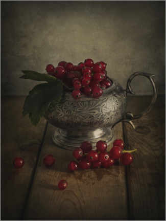 Premium poster Still life with red currants
